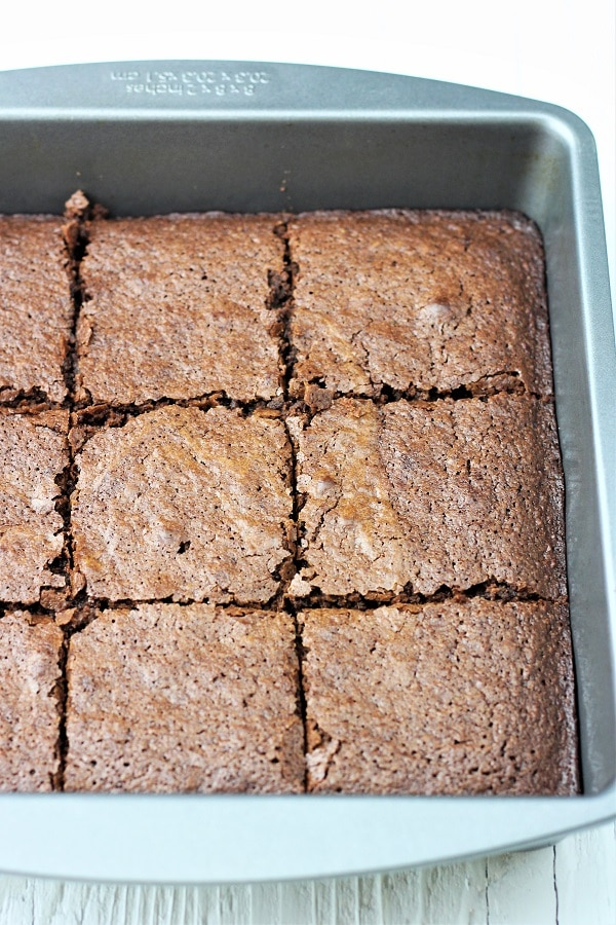 pan of brownies cut into squares