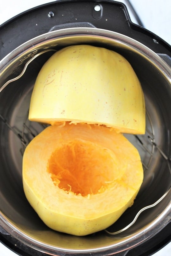 spaghetti squash in an instant pot