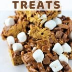 smores treats piled on a plate with a text overlay that says no bake smores treats nowcookthis.com