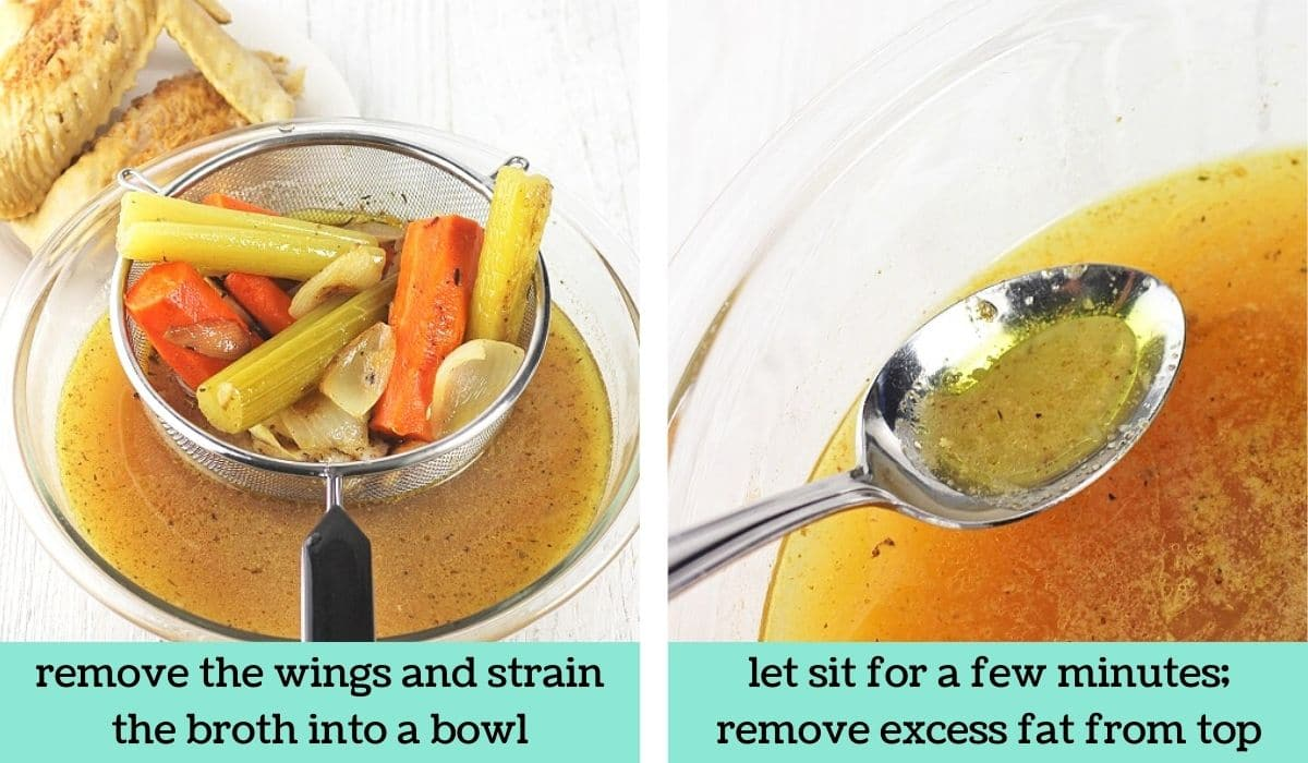 two images showing how to make make-ahead turkey gravy