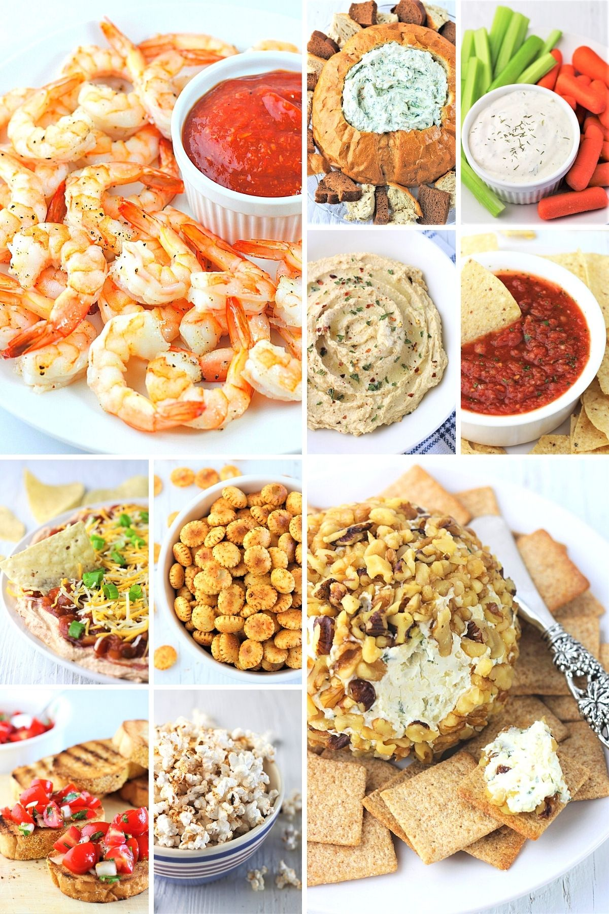 collage of 10 appetizer recipes