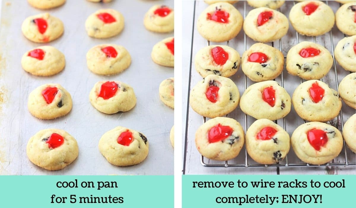 two images showing how to make christmas rock cookies