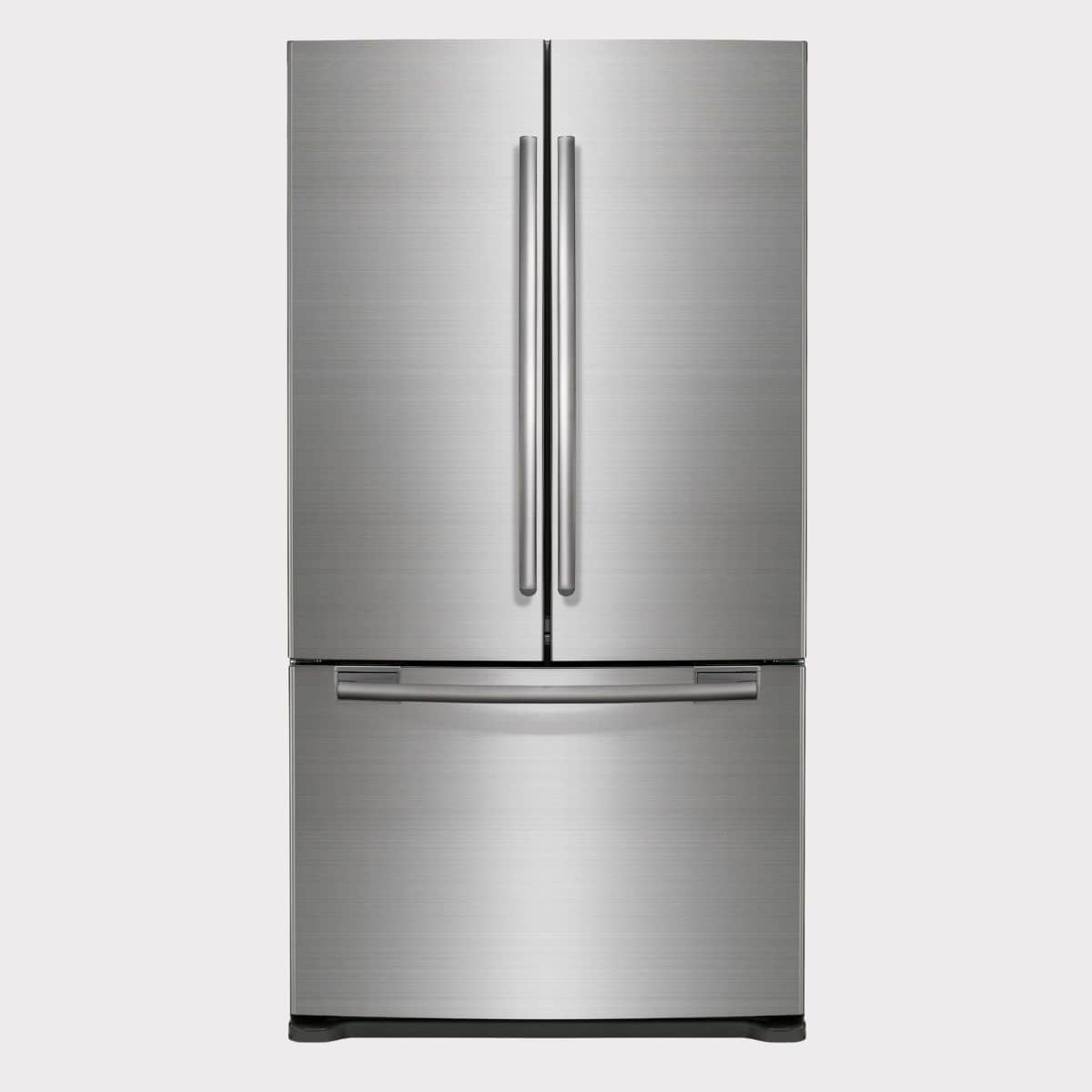 image of a stainless steel refrigerator/freezer