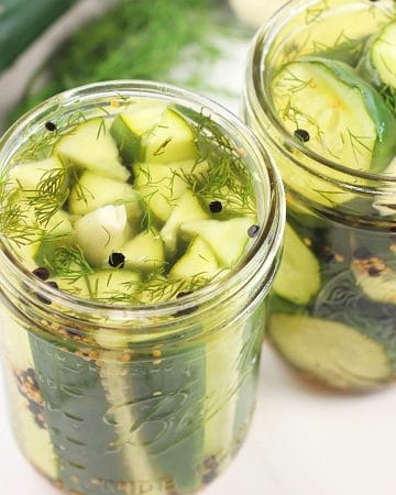 2 jars of garlic and dill 24-hour refrigerator pickles